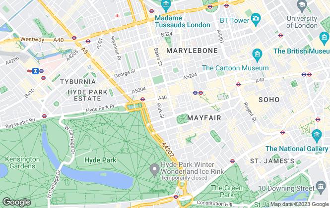 Map for Oudini Estates, Mayfair