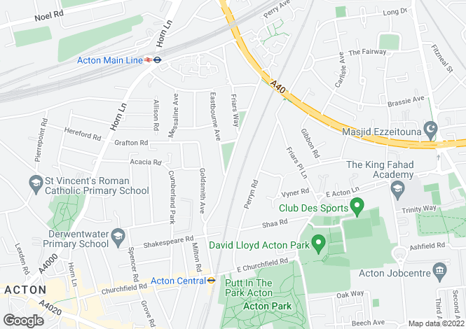 Map for St Dunstans Avenue, Acton, London W3 6QJ