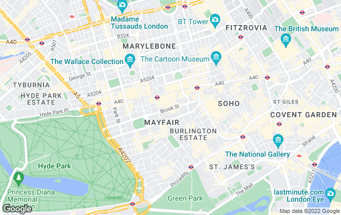 Map for Concept Spaces, London
