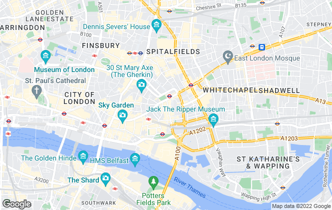 Map for BE Offices, Minories, London