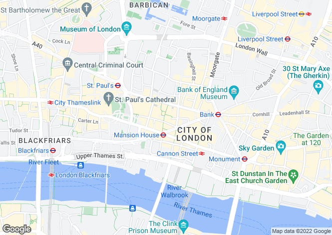 Map for Bow Lane, 11 Well Court, London, EC4M