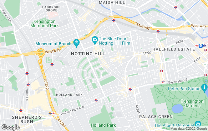 Map for Hamptons International Lettings, Notting Hill-Lettings