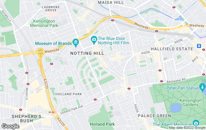 Map for Hamptons International Sales, Notting Hill