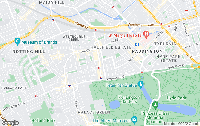 Map for Hyde Park Agencies, London