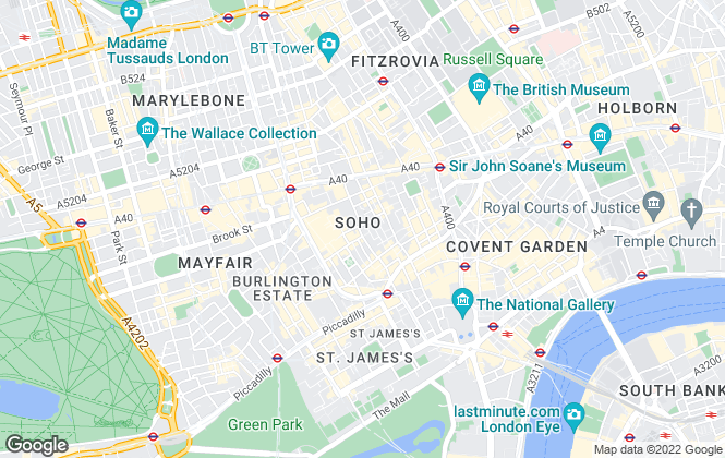 Map for Office Freedom, Central London