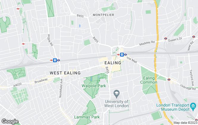 Map for Benham & Reeves Lettings, Ealing