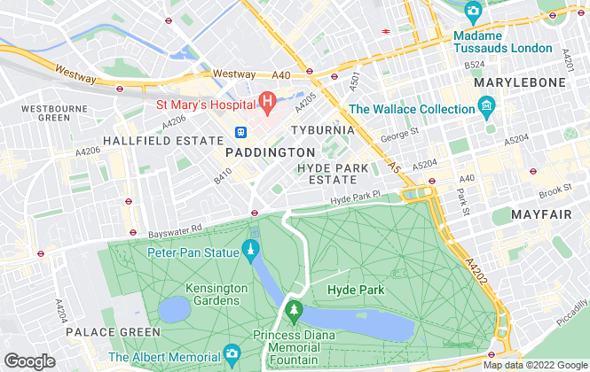 Map for Benham & Reeves Lettings, Hyde Park.