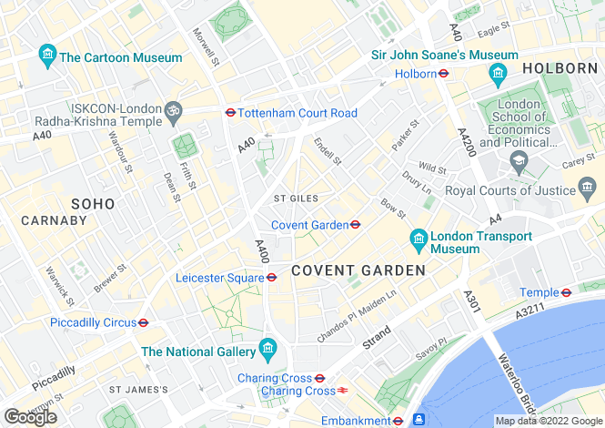 Map for Mercer Street, Covent Garden
