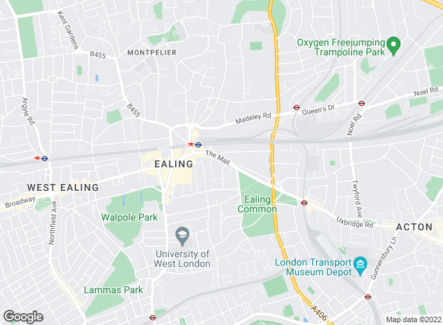 Map for Kinleigh Folkard & Hayward - Lettings, Ealing