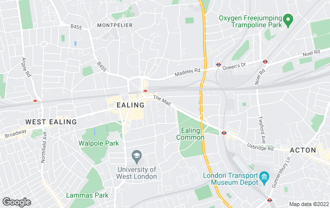 Map for Kinleigh Folkard & Hayward - Sales, Ealing