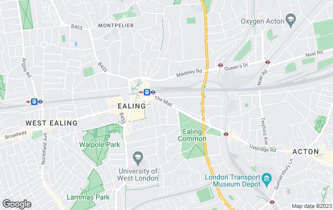 Map for Kinleigh Folkard & Hayward - Lettings, Ealing