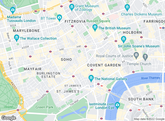Map for Outlet Property Services, London - Soho