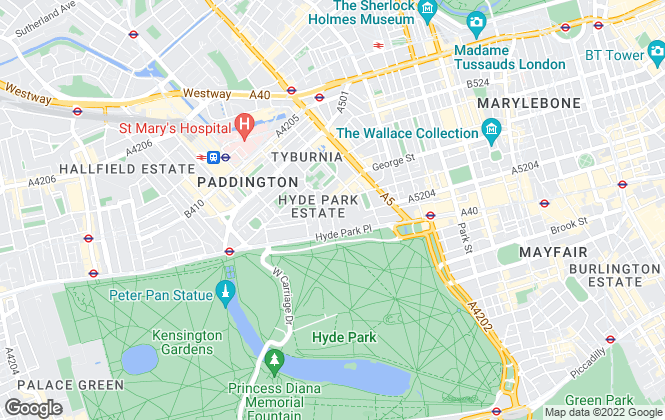 Map for Kay & Co, Hyde Park & Bayswater