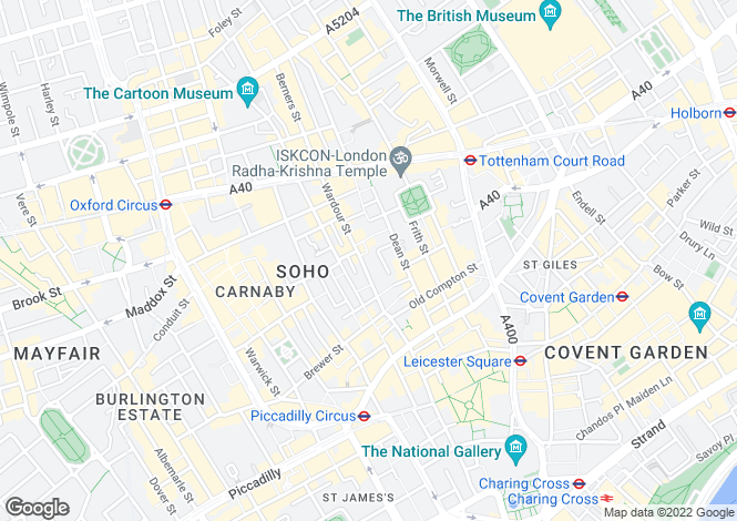 Map for Richmond Mews, Soho, London, W1D