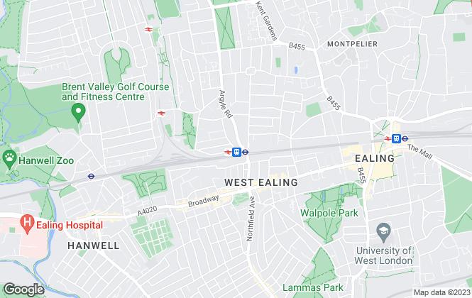 Map for Sutherland Estates, Ealing