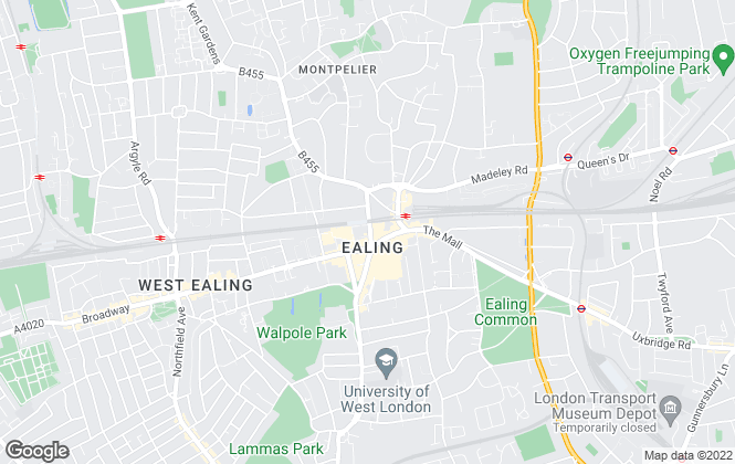 Map for Sinton Andrews, Ealing