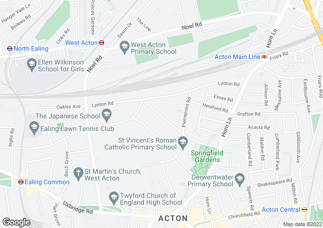 Map for Creswick Road,Acton,London