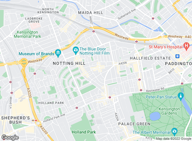 Map for Homesite, Notting Hill - Sales