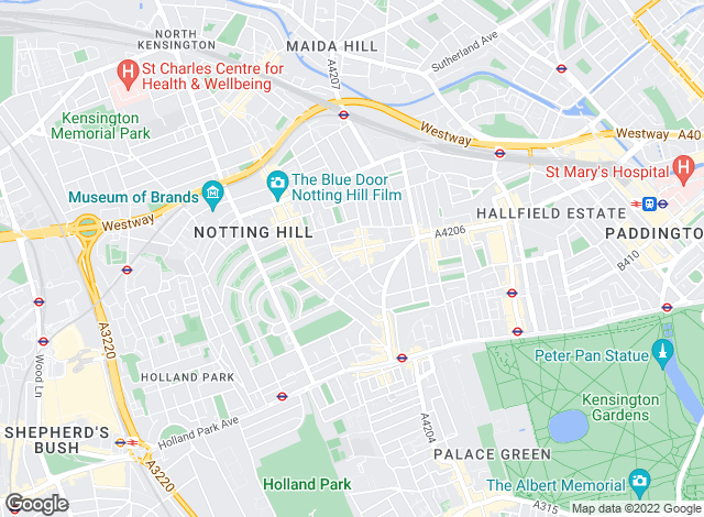 Map for Homesite, Notting Hill - Lettings