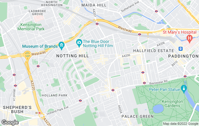 Map for Crayson, Notting Hill