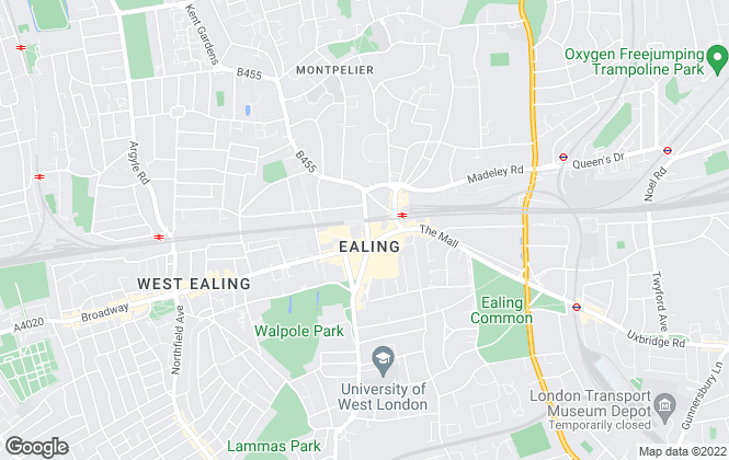 Map for Gardiner Residential, Ealing