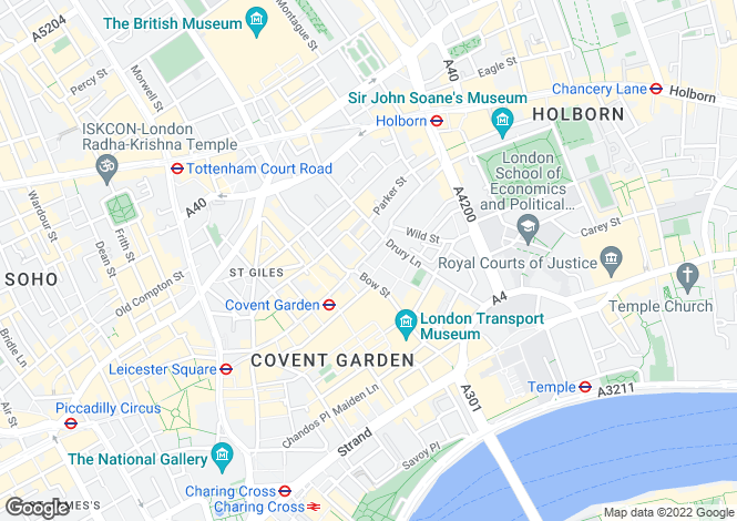 Map for Broad Court, Covent Garden, London, WC2E