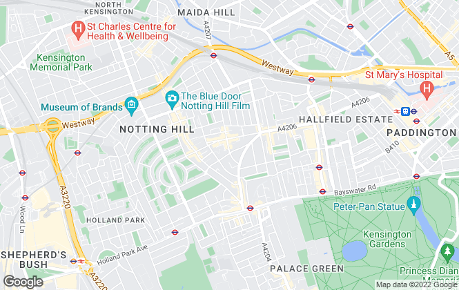 Map for Chestertons Estate Agents , Notting Hill Lettings