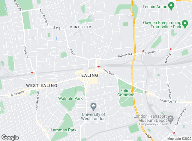 Map for Townends, Ealing - Lettings