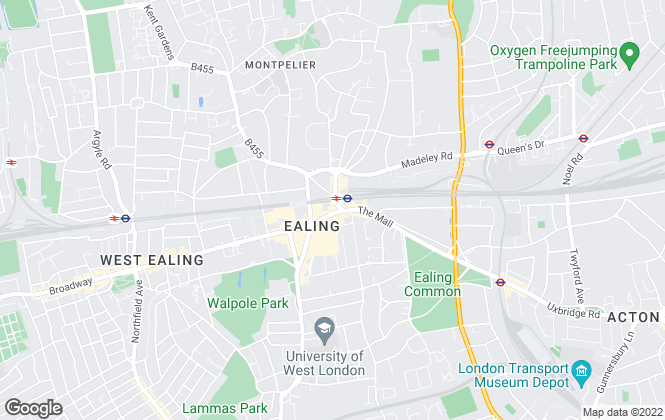 Map for Townends Lettings, Ealing - Lettings