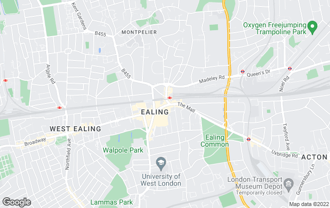 Map for Northfields, The Broadway, Ealing
