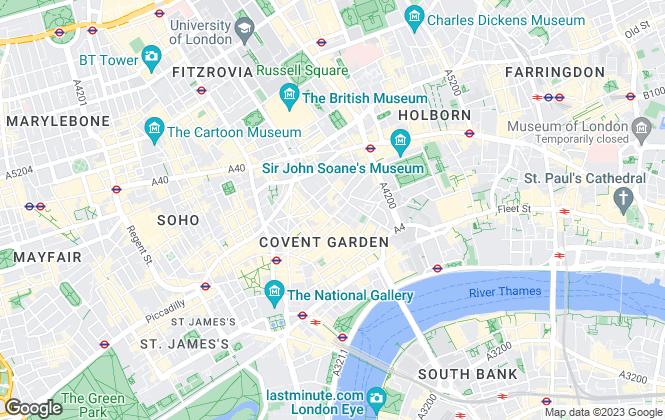 Map for Stirling Ackroyd, West End