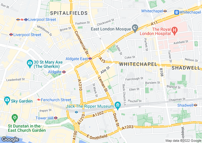 Map for Altitude at Altitude, Alie Street,
