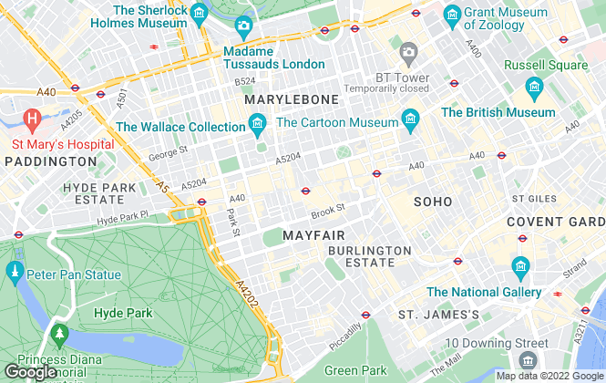 Map for GC Property, London