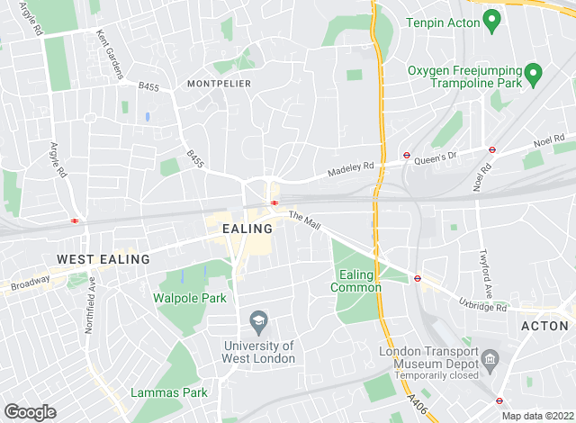 Map for Hamptons International Sales, Ealing