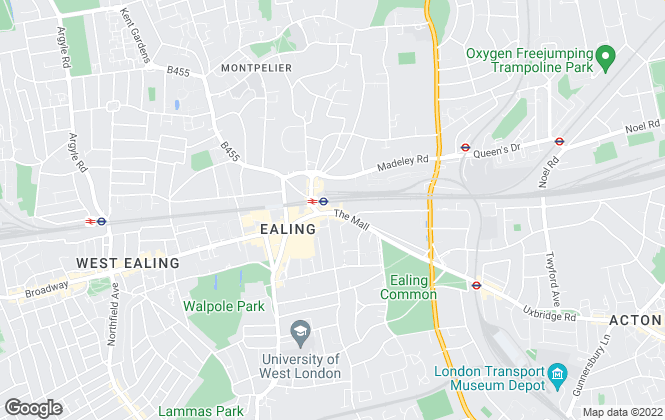 Map for Hamptons International Lettings, Ealing