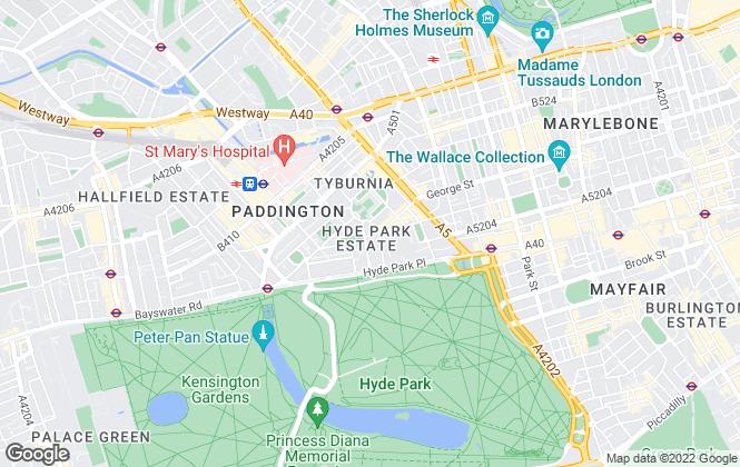 Map for Carter Jonas Lettings, Hyde Park