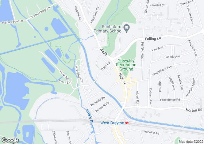 Map for Caxton House Trout Road, Yiewsley,