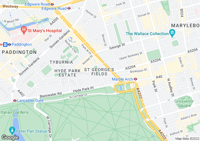 Map for Connaught Square, Hyde Park, London, W2