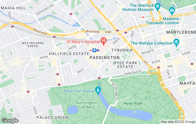 Map for Dexters, Paddington