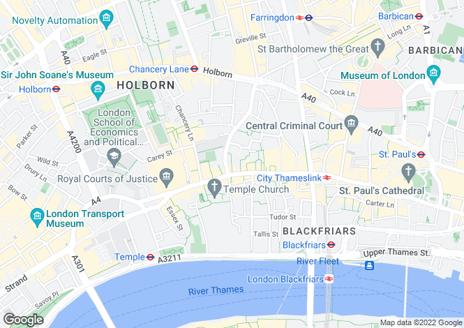 Map for Red Lion Court,