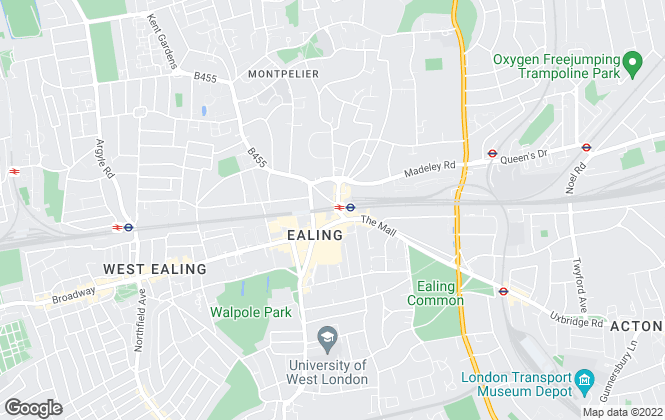Map for Match A Property , Ealing