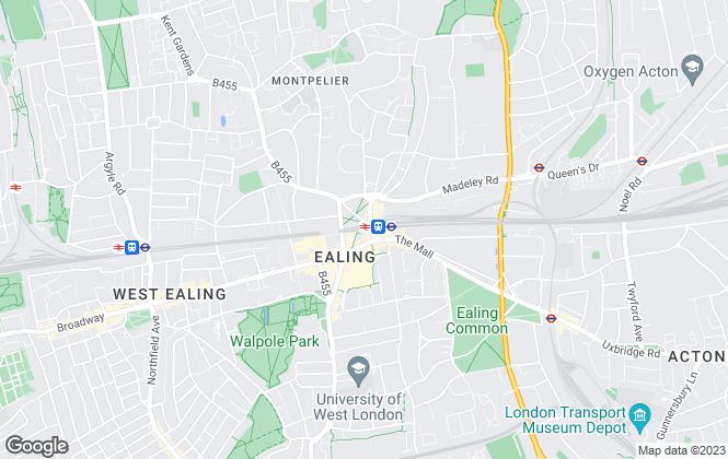 Map for Robinson Farwood Associates, London