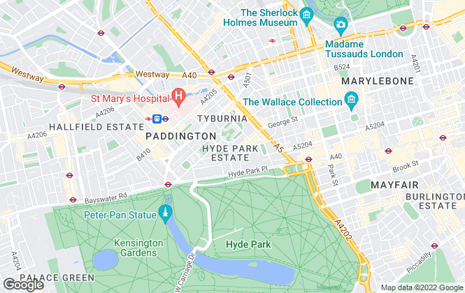 Map for Chesterton Humberts Lettings, Hyde Park