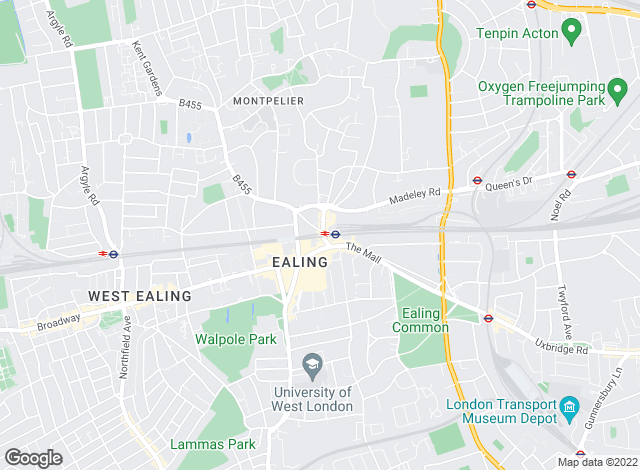 Map for Chasemore Lettings, Ealing