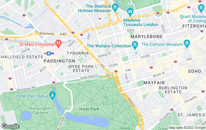 Map for William James Estate Agents, Marble Arch