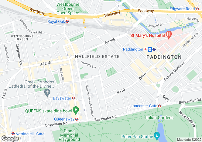 Map for Leinster Gardens, Bayswater, London, W2