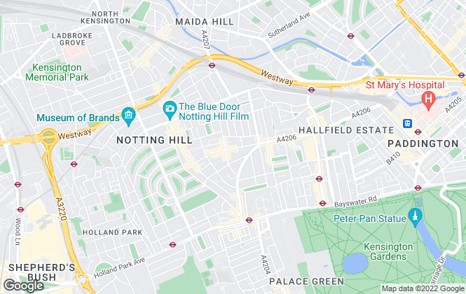 Map for Savills Lettings, Notting Hill - Lettings