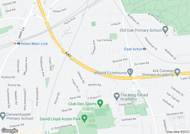 Map for Templemead Close, East Acton, W3 7HN