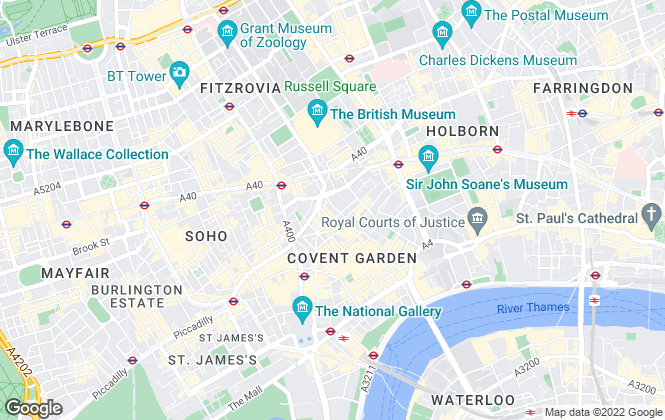 Map for Barnard Marcus Lettings, Covent Garden Lettings