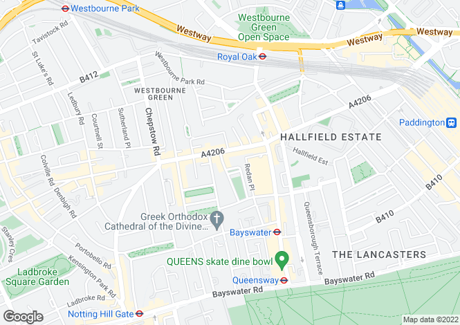 Map for Kensington Garden Square, Westbourne Grove, W2